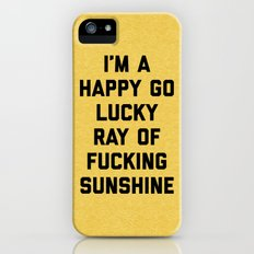 Ray Of Sunshine Funny Quote iPhone (5, 5s) Slim Case
