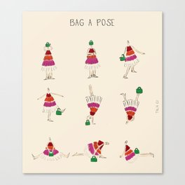 Bag A Pose Canvas Print