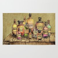 oil Area & Throw Rugs featuring Snake Oil by Eric Fan