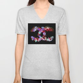 Floral Fashion Unisex V-Neck