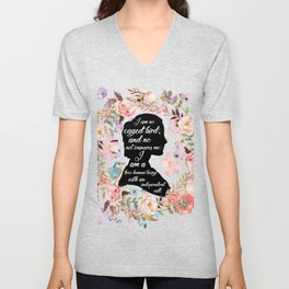Jane Eyre Quote Unisex V-Neck