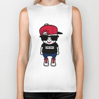 hiphop Biker Tanks featuring 30Billion - Hiphop Bear 01 by 30Billion