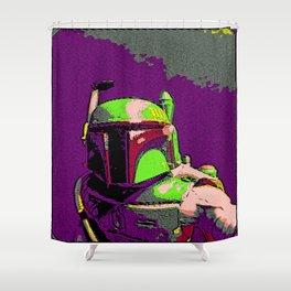 Boba Goes Pop Art Shower Curtain