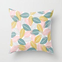 Candy Gum Overlap Throw Pillow