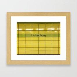 Berlin U-Bahn Memories - Lichtenberg Framed Art Print