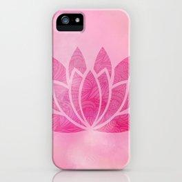 Zen Watercolor Lotus Flower Yoga Symbol iPhone Case