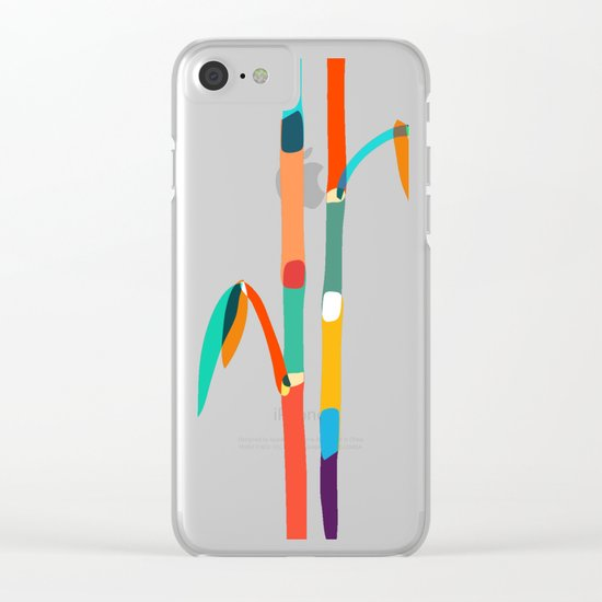 Couple of Bamboo Clear iPhone Case