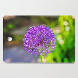 Purple + Blue Flower Cutting Board