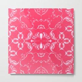 Infra Red Kaleidoscope Pattern #2 Metal Print