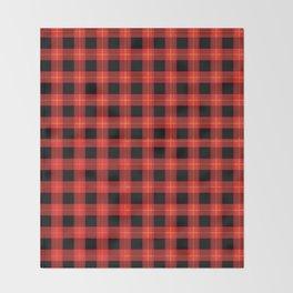 Red Buffalo Plaid Flannel Pattern Throw Blanket
