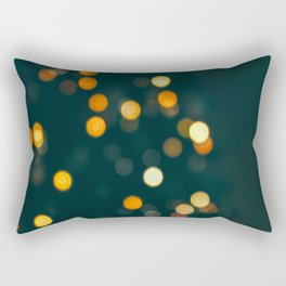 Bokeh Blurred Lights Shimmer Shiny Dots Spots Circles Out Of Focus Rectangular Pillow