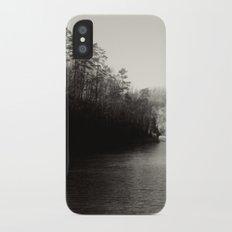 Black & White Lake iPhone X Slim Case