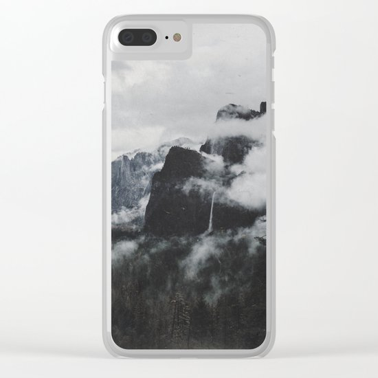 vintage mountains Clear iPhone Case