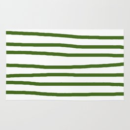 Simply Drawn Stripes in Jungle Green Rug