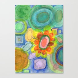 A closer Look at the Flower  Universe Canvas Print