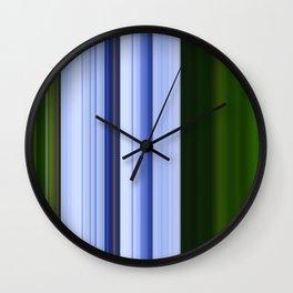 Scanline | Lobelia 142 Wall Clock