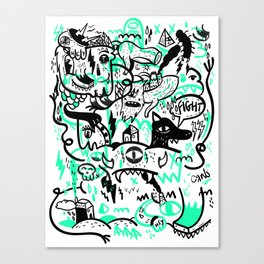 Duudle #5 Canvas Print