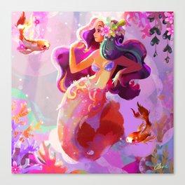 Neon Koi Canvas Print