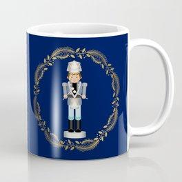The Nutcracker Christmas Special - Drummer Boy in Golden Christmas Wreath (Royal Blue) Coffee Mug