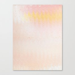 creamsicle ripples Canvas Print