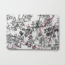 Graffiti Tic Tac Toe Metal Print
