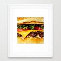 burger Framed Art Prints featuring Burger by Jamie Danielle