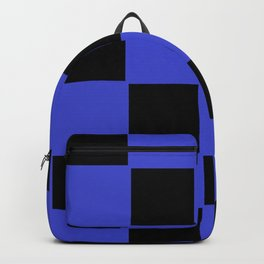 Black and blue chess board Backpack