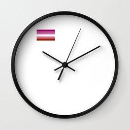 Gay Pride LGBT Lipstick Lesbian Rainbow Flag design Wall Clock