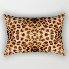 Leopard Print Kaleidoscope Abstract Rectangular Pillow
