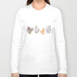 Silkie Chickens Long Sleeve T-shirt