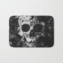 Garden Skull Dark B&W Bath Mat