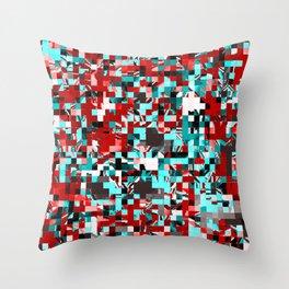 Pixelated 3 Throw Pillow