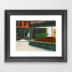 Grass Hopper Framed Art Print