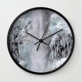 Cloaked in Ice Wall Clock