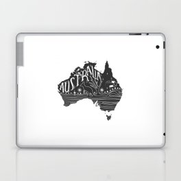 Australia map typo doodle Laptop & iPad Skin