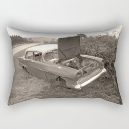1957 Vauxhall Victor - dead cars series 102 Rectangular Pillow