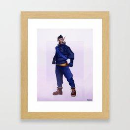 Winter Skin Framed Art Print