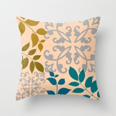Leaves And Scrolls Throw Pillow