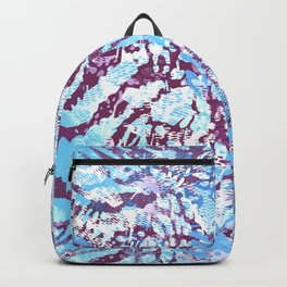 animal skin layers textured in teal and deep purple Backpack