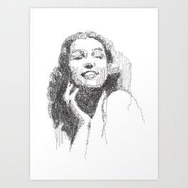 Rita Hayworth Portrait Art Print