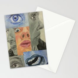 modern cubism Stationery Cards