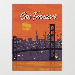 San Francisco vintage poster travel Poster
