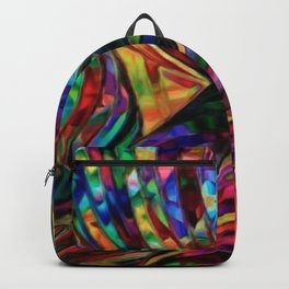 Stained Glass Jewel Tone Pattern Backpack