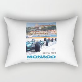 1966 MONACO Grand Prix Racing Poster Rectangular Pillow