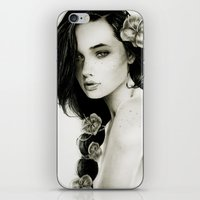 katniss iPhone & iPod Skins featuring Katniss by Isaiah K. Stephens
