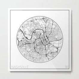 Nashville Map Universe Metal Print