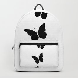 Black Butterflies Ink Art Backpack