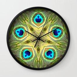 Estrella pavo 3 Wall Clock
