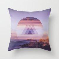 spires Throw Pillows featuring Tri-Spires by Adam Egginton