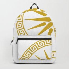 Vergina Sun Macedonian Star Argead Ancient Greek Pride Backpack